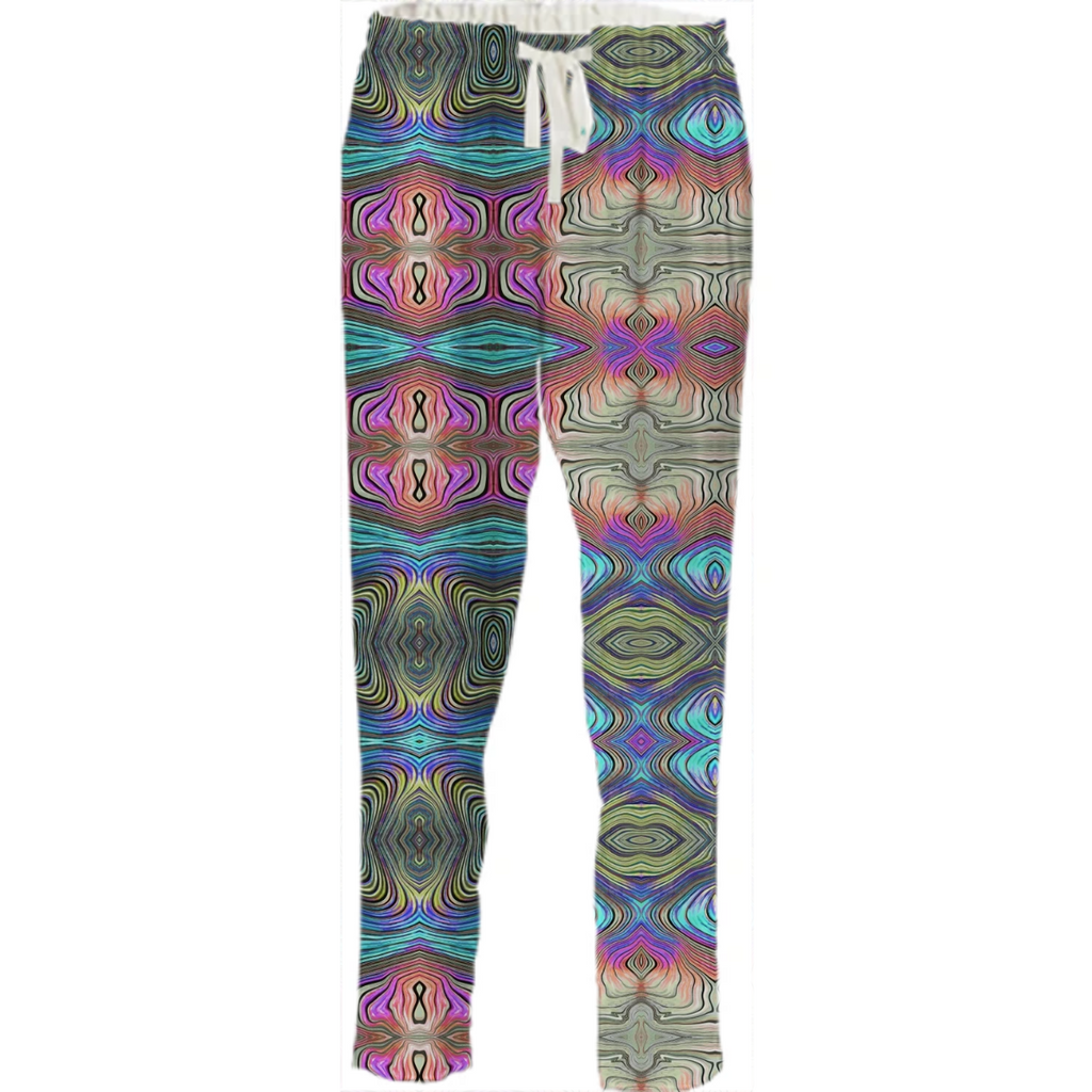 Mystic Blue and Pink Drawstring Pants
