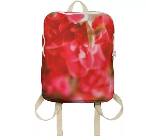 Red Flower Backpack