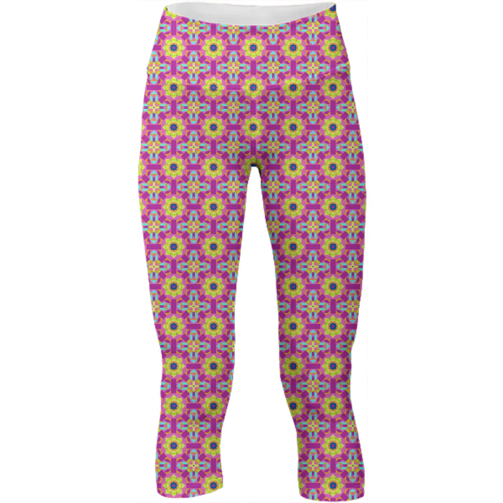 Neon Pattern Yoga Pants #4