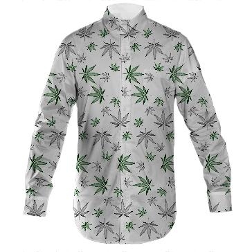 Weed Illustrated Button Down