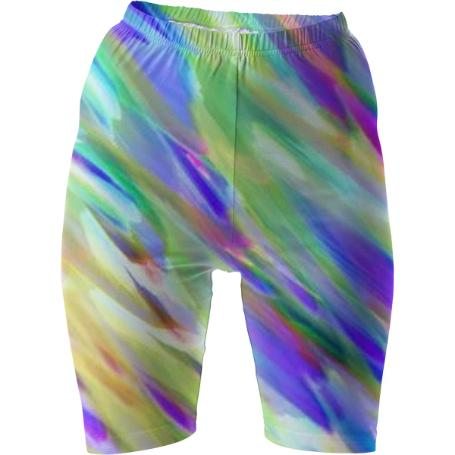 Colorful digital art splashing G401 BIKE SHORTS