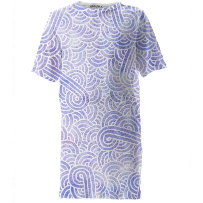 Lavender and white swirls doodles Tall Tee