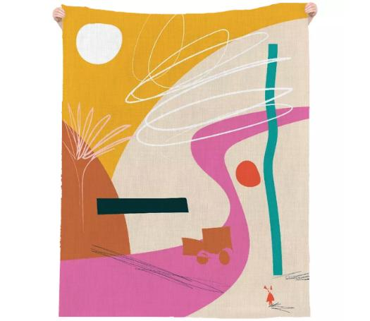 PAOM, Print All Over Me, digital print, design, fashion, style, collaboration, marina-esmeraldo, marina esmeraldo, Linen Beach Throw, Linen-Beach-Throw, LinenBeachThrow, Dune, spring summer, unisex, Linen, Home