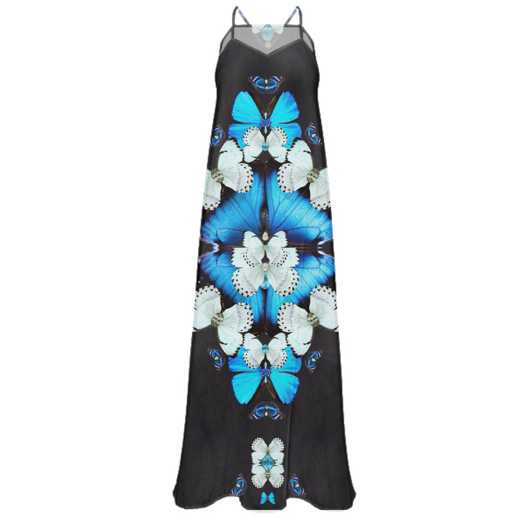Iron Butterfly Chiffon Maxi Dress