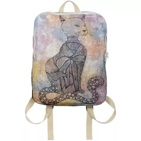 Cat Magic Line Art Backpack