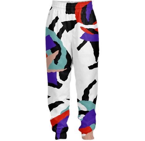 PAOM, Print All Over Me, digital print, design, fashion, style, collaboration, gambette, Tracksuit Pant, Tracksuit-Pant, TracksuitPant, Flame, the, forest, Pants, autumn winter spring summer, unisex, Nylon, Bottoms