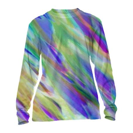 CUFFED LONG SLEEVE Colorful digital art splashing G401