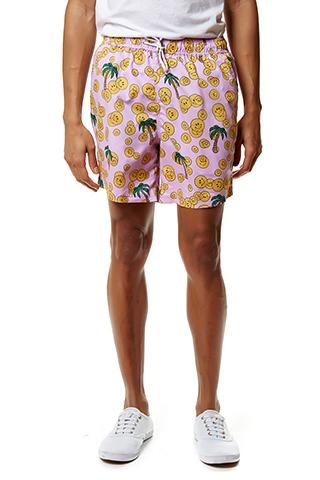PAOM, Print All Over Me, digital print, design, fashion, style, collaboration, annie-larson, annie larson, Swim Short, Swim-Short, SwimShort, Smiley, Shorts, spring summer, unisex, Poly, Swimwear