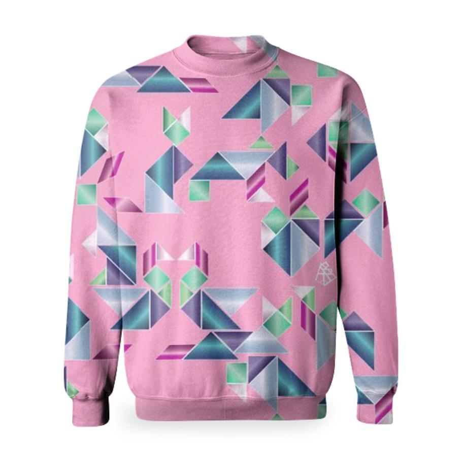 90 s tangram old lady sweater