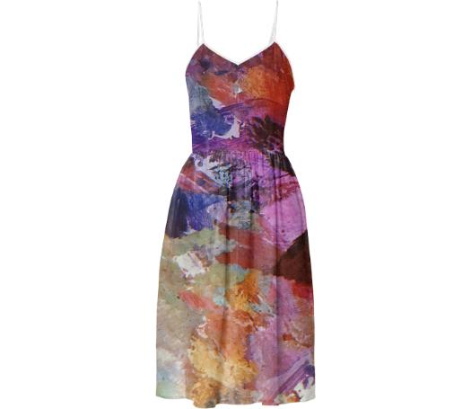 Paint Splatter Summer Dress