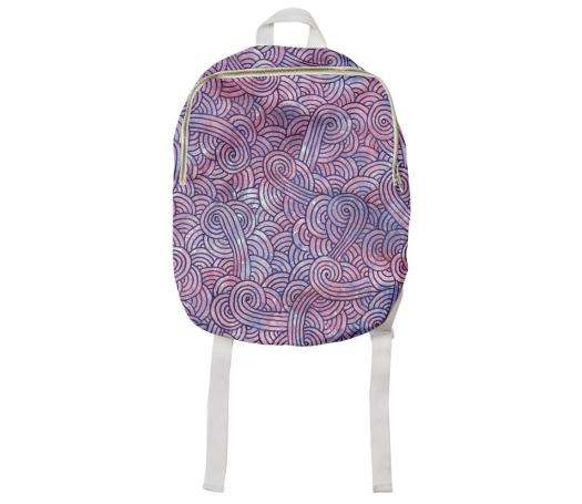 Purple swirls doodles Kids Backpack