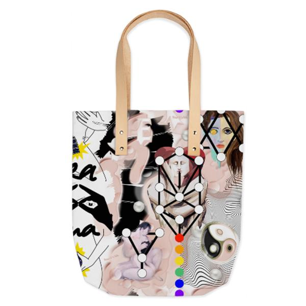 PAOM, Print All Over Me, digital print, design, fashion, style, collaboration, pinar_viola, Summer Tote, Summer-Tote, SummerTote, Sexual, Healing, spring summer, unisex, Poly, Bags