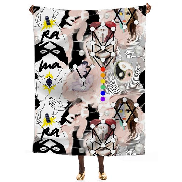 PAOM, Print All Over Me, digital print, design, fashion, style, collaboration, pinar_viola, Linen Beach Throw, Linen-Beach-Throw, LinenBeachThrow, Sexual, Healing, spring summer, unisex, Linen, Home