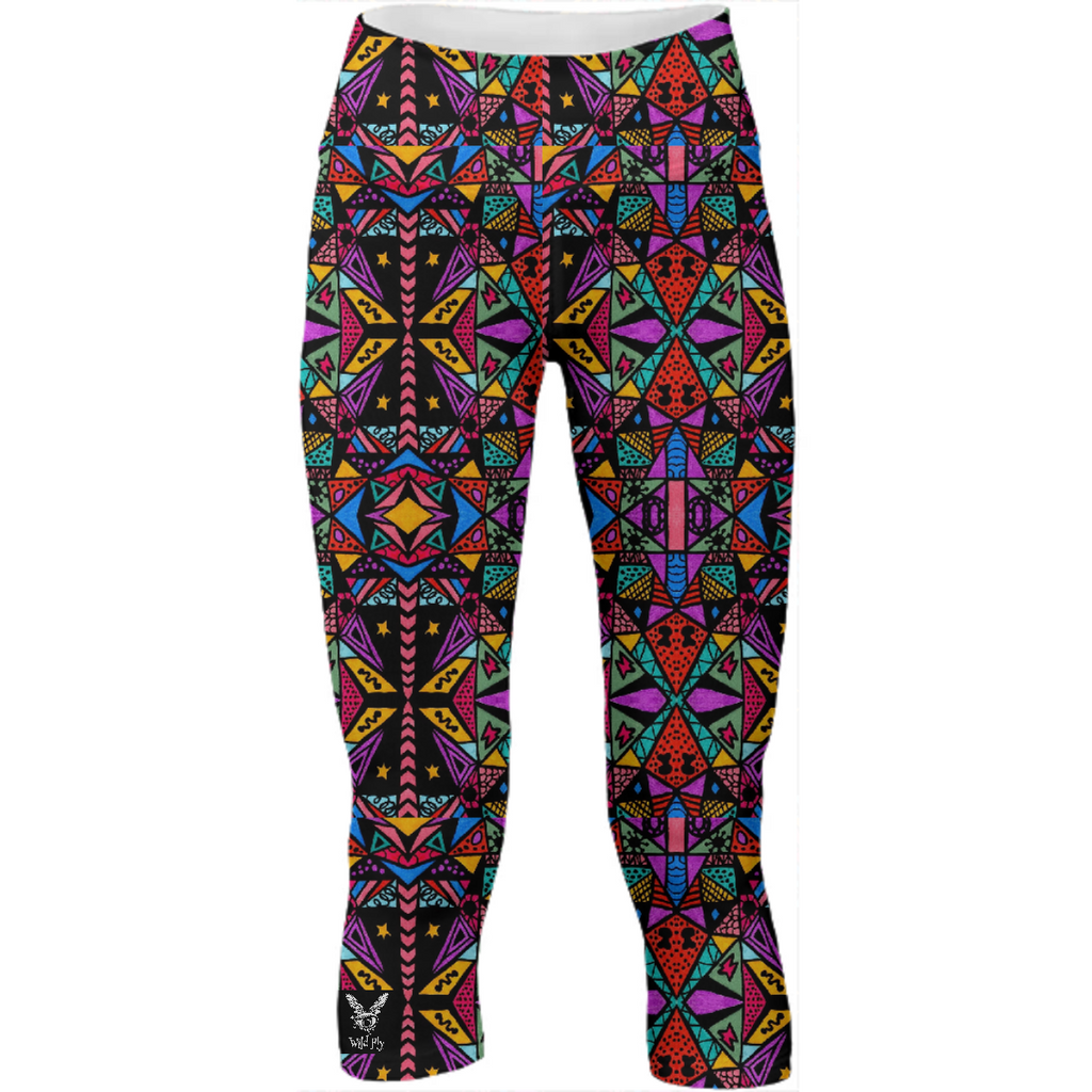 Wild Fly Pyramids Yoga Pants