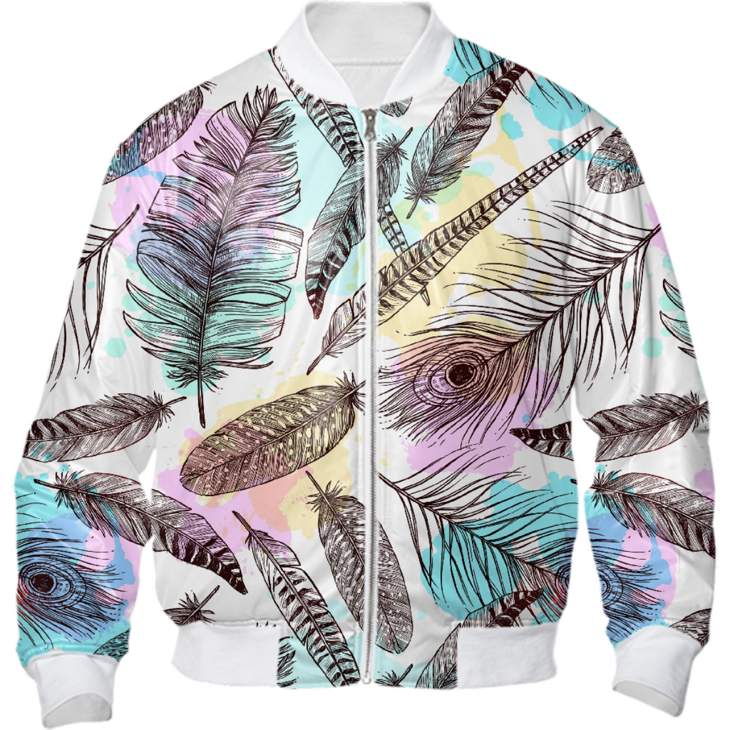 Tribal Pastels Bomber Jacket