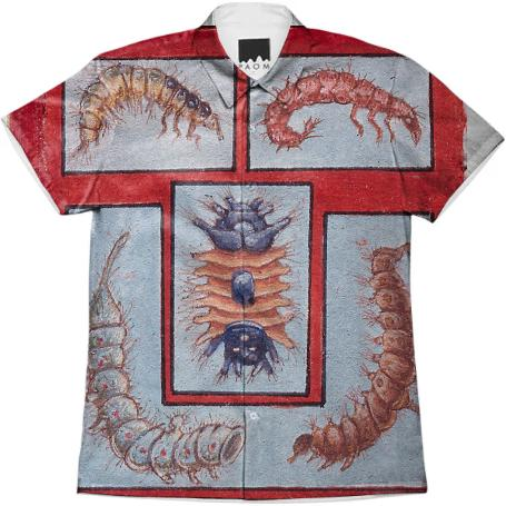 David Beck Bug Book Work Shirt Crawlers