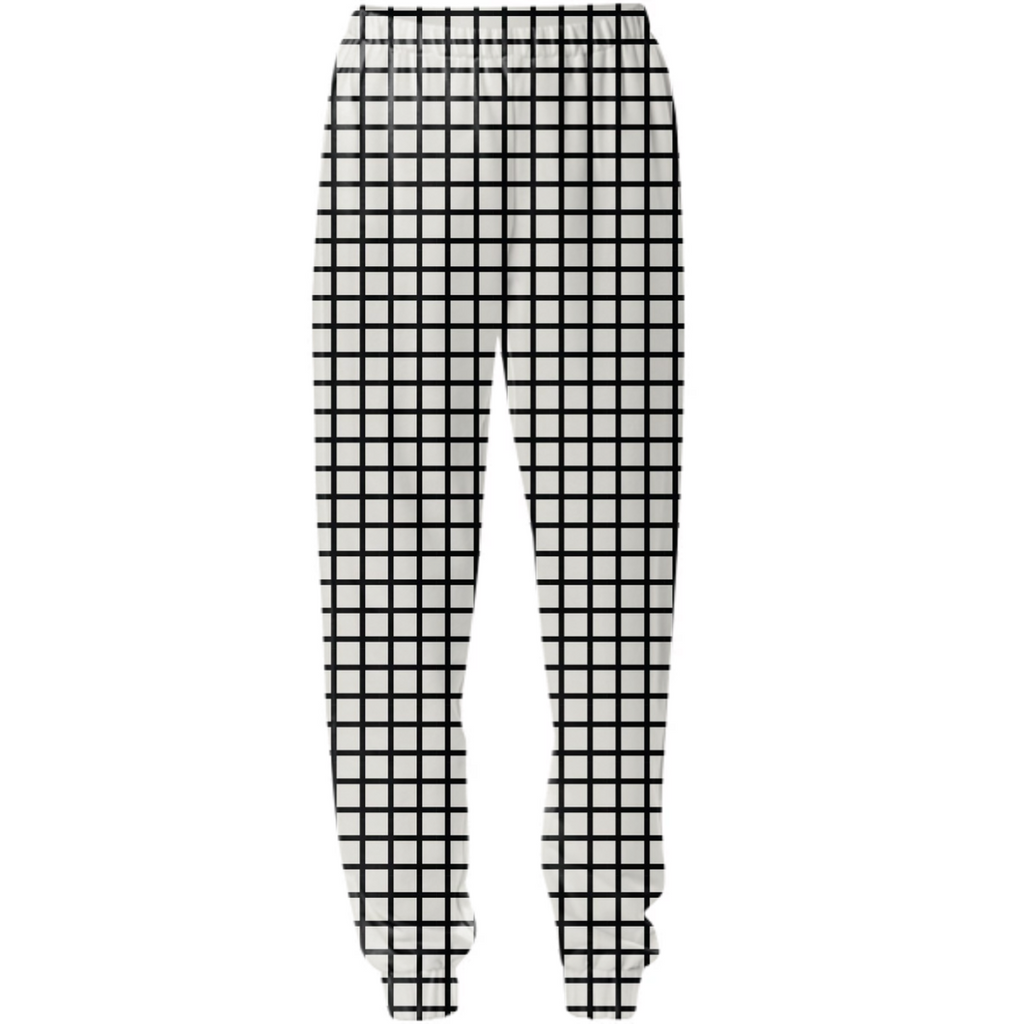 Black Grid Sweats