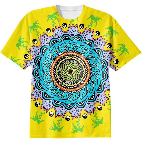 90s Themed California Mandala Tee