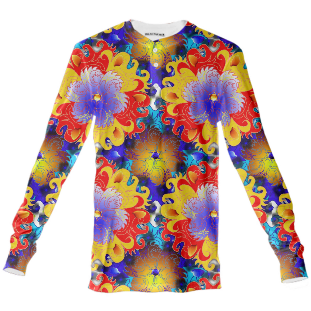 Jokers Kaleidoscope Henley Shirt