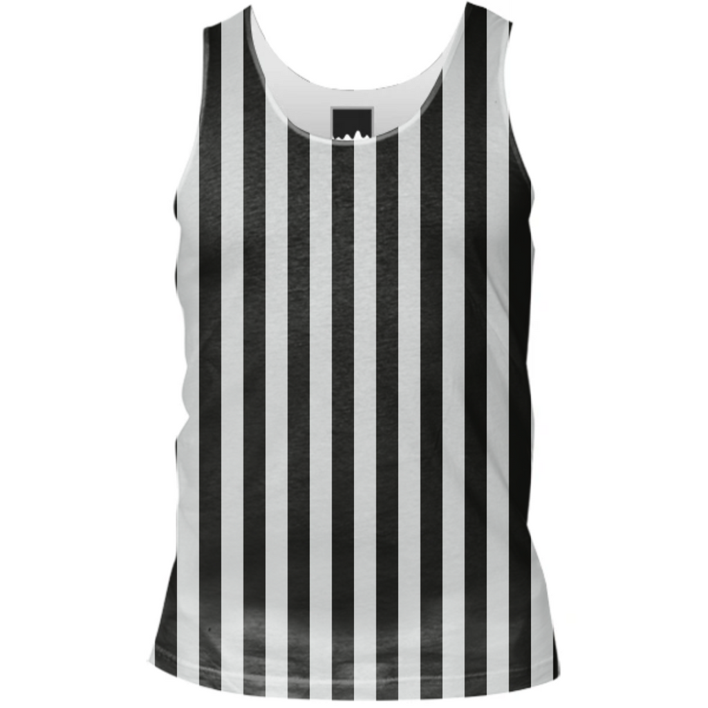 Black and White Striped Tank Top Shirt Lines Pattern