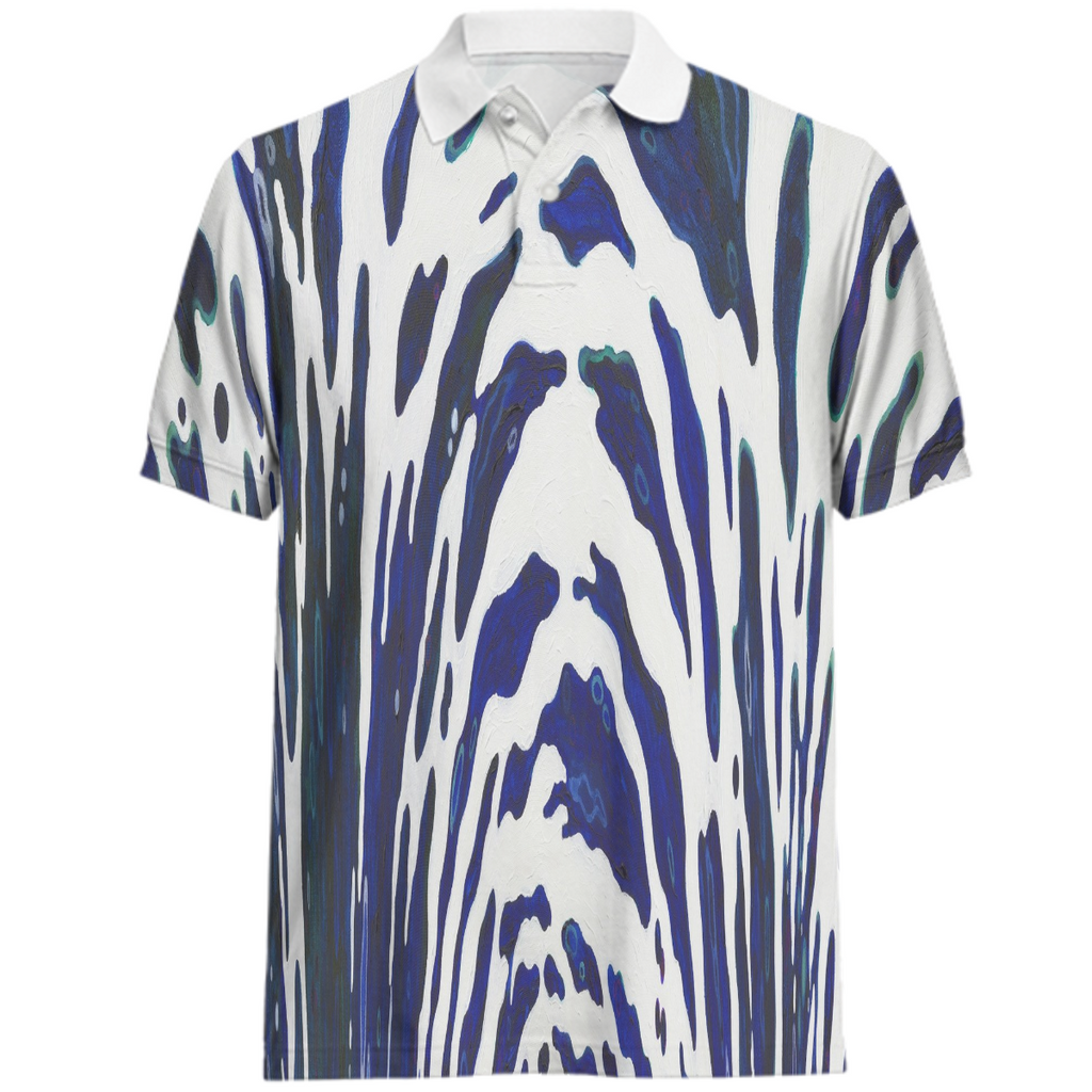 Blue Zebra Mens Juul Polo Shirt