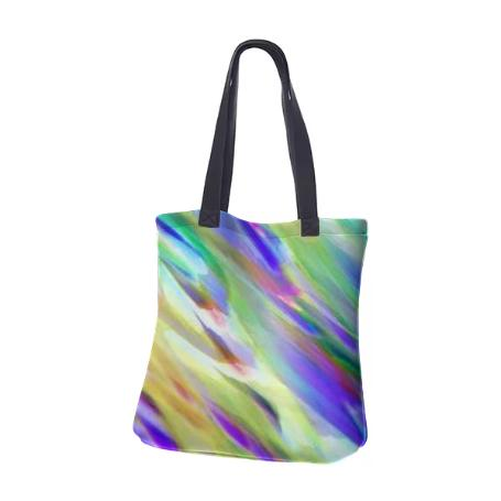 NEOPRENE TOTE BAG Colorful digital art splashing G401