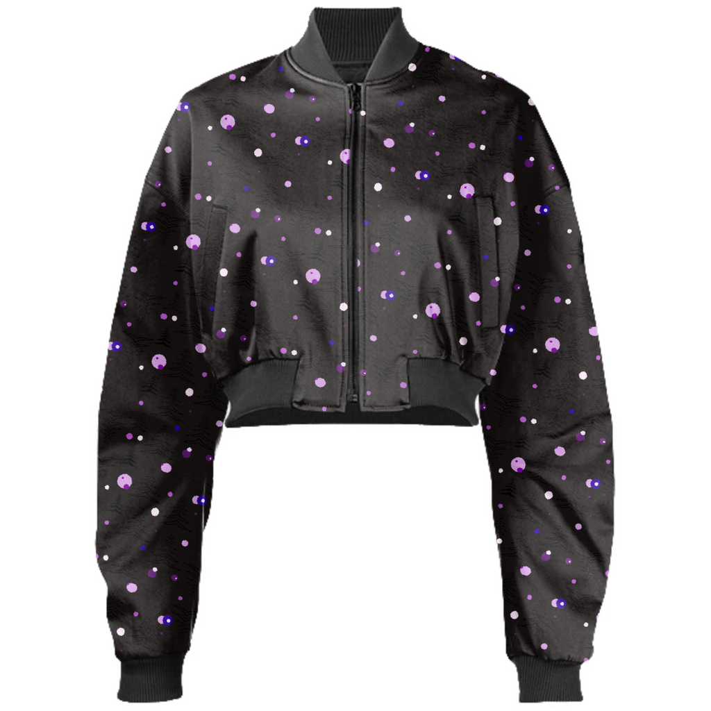 Midnight Soaring Birds Bomber Jacket