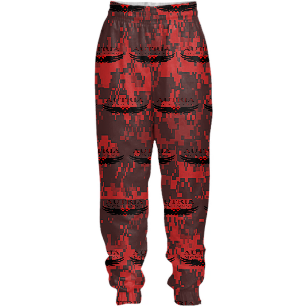 Autria Fatigue Red Logo Track Pants.