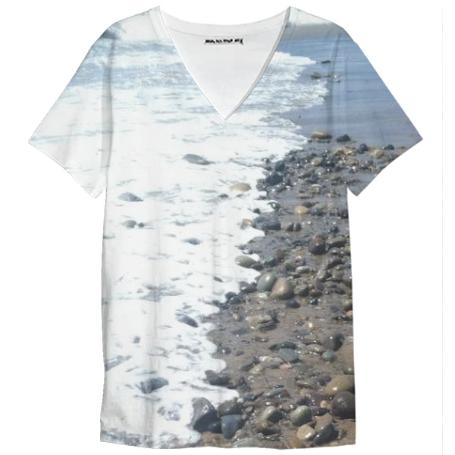 Beach Rocks V Neck Tee