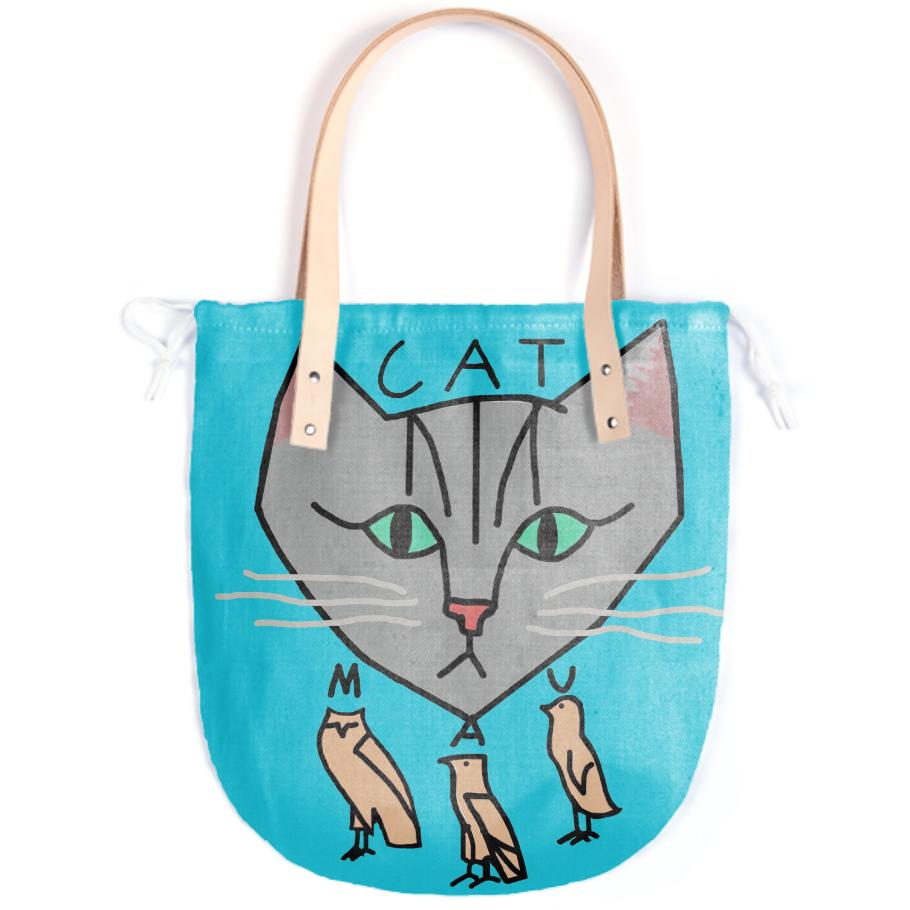 The Cat is Mau Blue Tote Bag