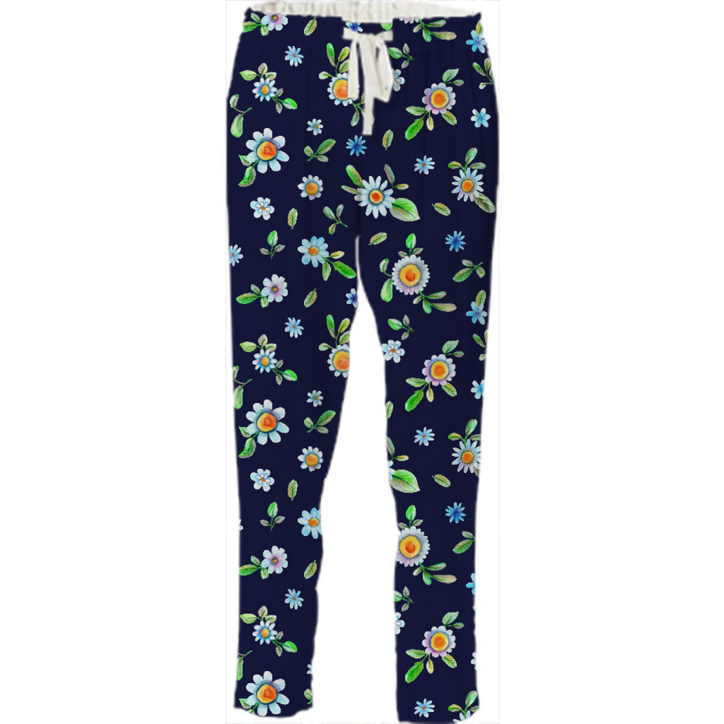 Floral navy daisies
