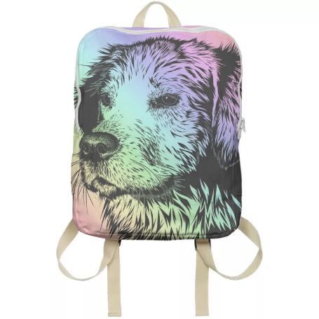Rainbow Dog Bookbag