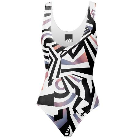 PAOM, Print All Over Me, digital print, design, fashion, style, collaboration, zebrakatz, One Piece Swimsuit, One-Piece-Swimsuit, OnePieceSwimsuit, Dazzle, spring summer, unisex, Spandex, Swimwear