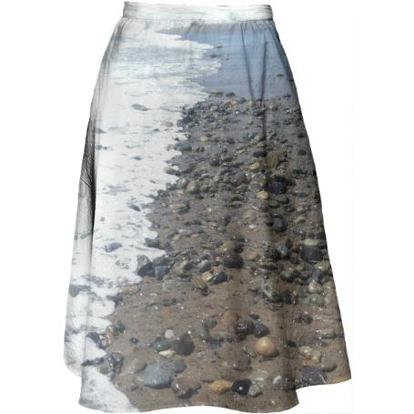 Beach Rocks Midi Skirt