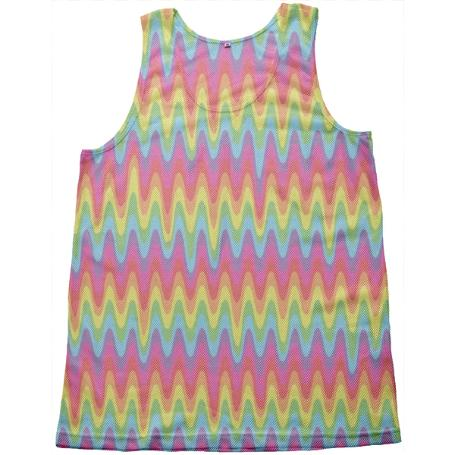 PAOM, Print All Over Me, digital print, design, fashion, style, collaboration, paomcollabs, Mesh Tank, Mesh-Tank, MeshTank, Drippy, Rainbow, spring summer, unisex, Poly, Tops