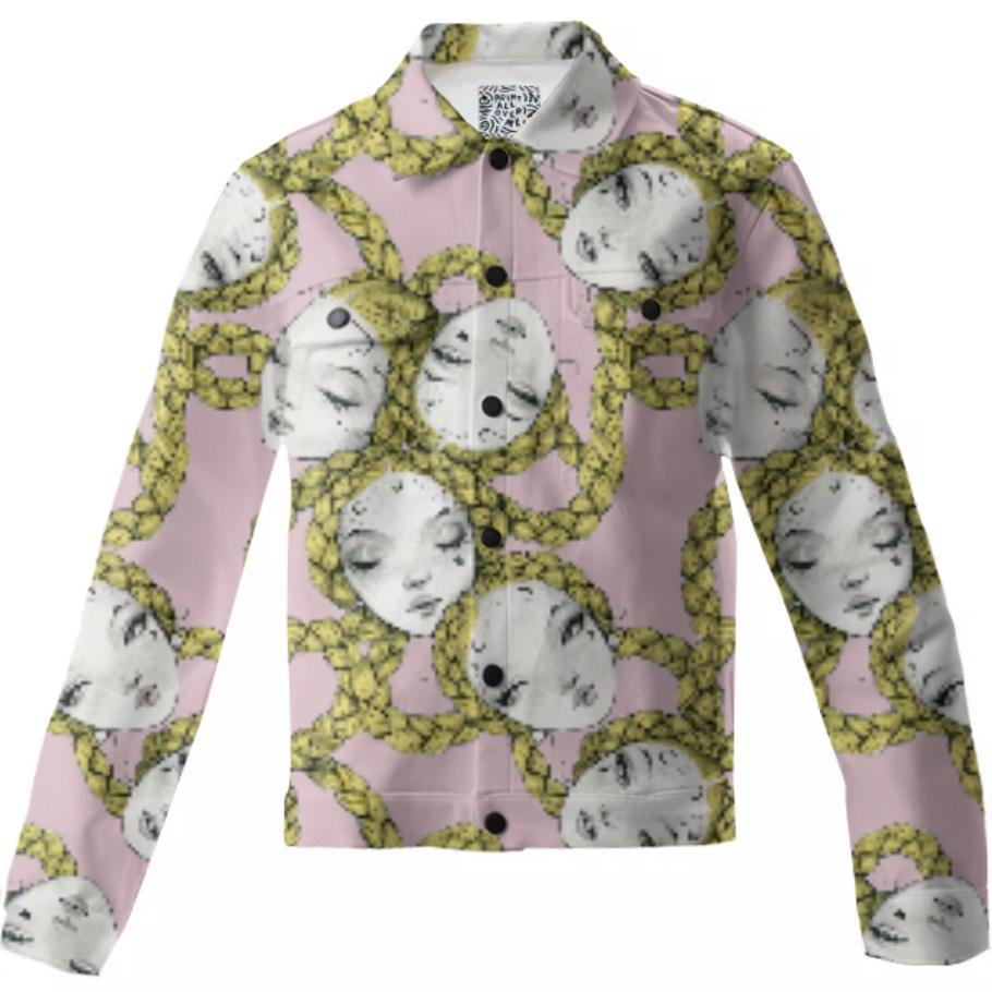 PAOM, Print All Over Me, digital print, design, fashion, style, collaboration, pidgin-doll, pidgin doll, Twill Jacket, Twill-Jacket, TwillJacket, Pidgin, Ballet, Pink, autumn winter, unisex, Cotton, Outerwear