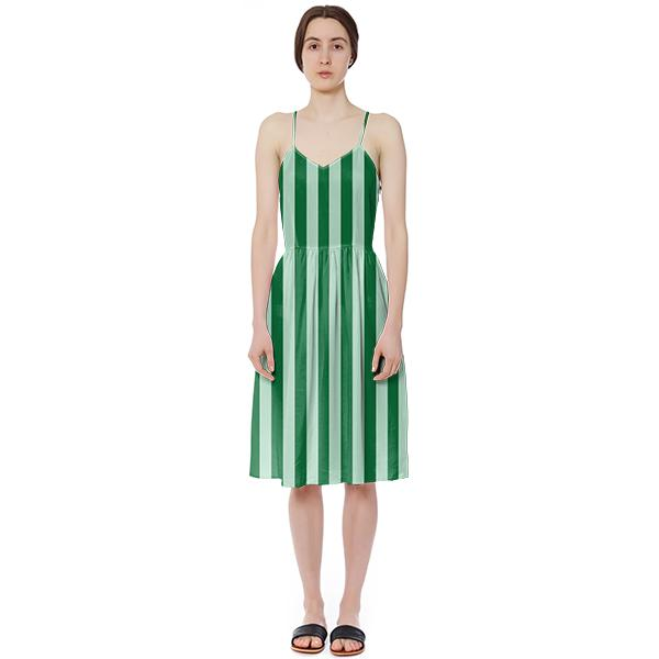 PAOM, Print All Over Me, digital print, design, fashion, style, collaboration, sugarandcloth, Summer Dress, Summer-Dress, SummerDress, Green, Striped, spring summer, unisex, Poly, Dresses
