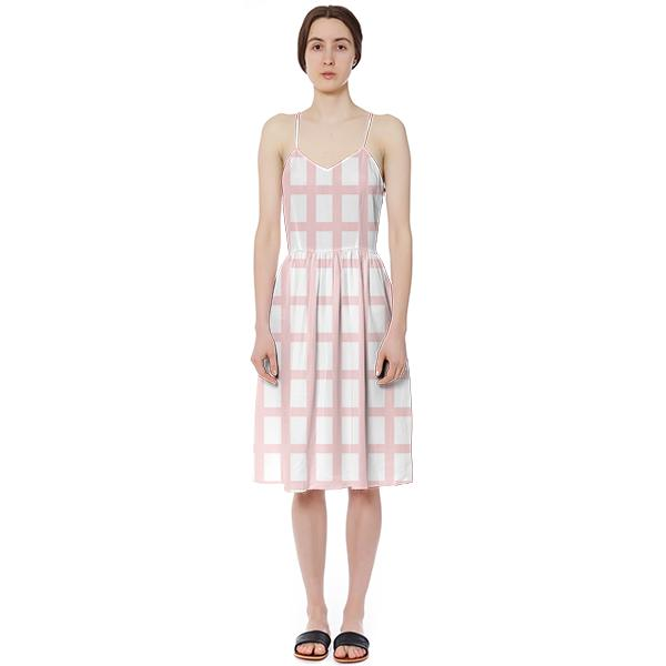 PAOM, Print All Over Me, digital print, design, fashion, style, collaboration, sugarandcloth, Summer Dress, Summer-Dress, SummerDress, Pink, Grid, spring summer, unisex, Poly, Dresses
