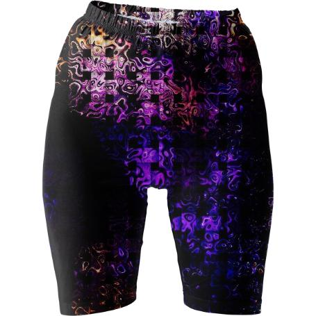 Bubble Crossstitch Bike Shorts