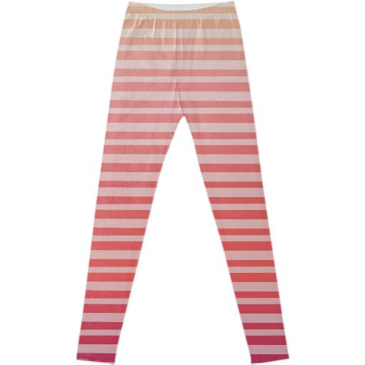 Irregular Striped Ombre Coral Pink