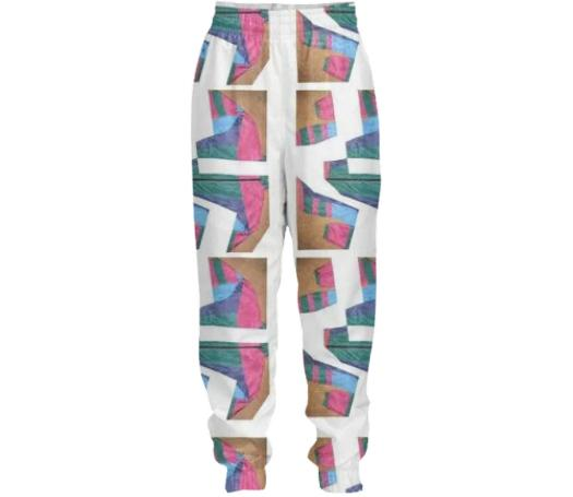PAOM, Print All Over Me, digital print, design, fashion, style, collaboration, cheryl-donegan, cheryl donegan, Tracksuit Pant, Tracksuit-Pant, TracksuitPant, ExtraLayer, Cracked, autumn winter spring summer, unisex, Nylon, Bottoms