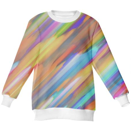 Colorful digital art splashing G391 NEOPRENE SWEATSHIRT
