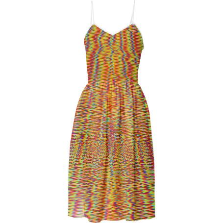 Rainbow Glitch Waves Dress