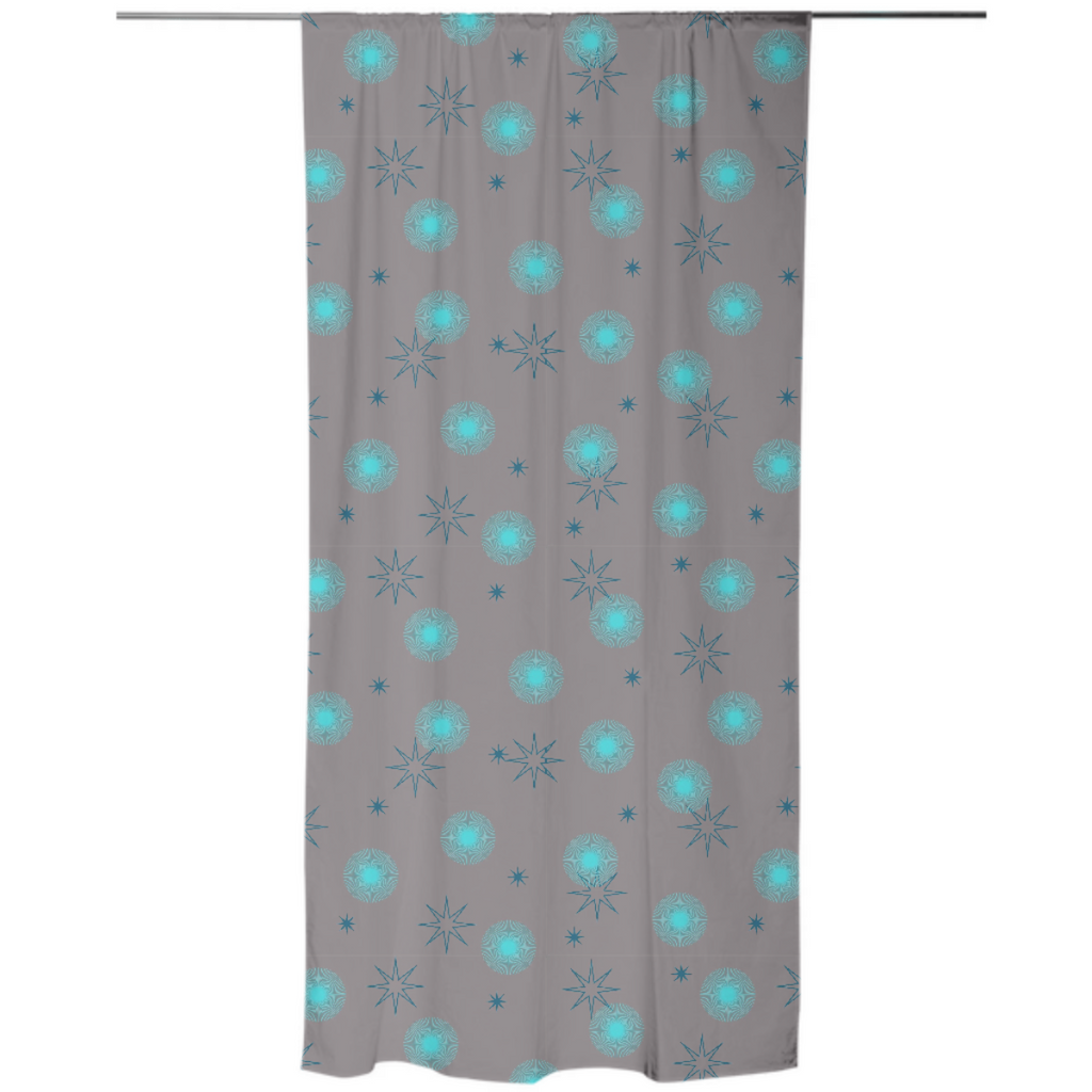 Abstract Dots Explosion 3 Curtain