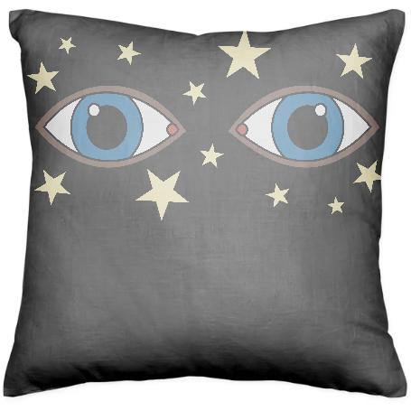 PAOM, Print All Over Me, digital print, design, fashion, style, collaboration, yazbukey, Pillow, Pillow, Pillow, Eyes, autumn winter spring summer, unisex, Poly, Home