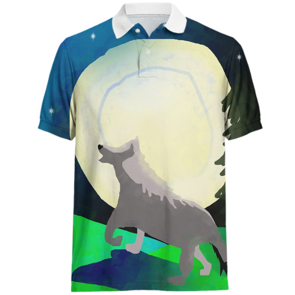 Wolf Moon Polo Shirt