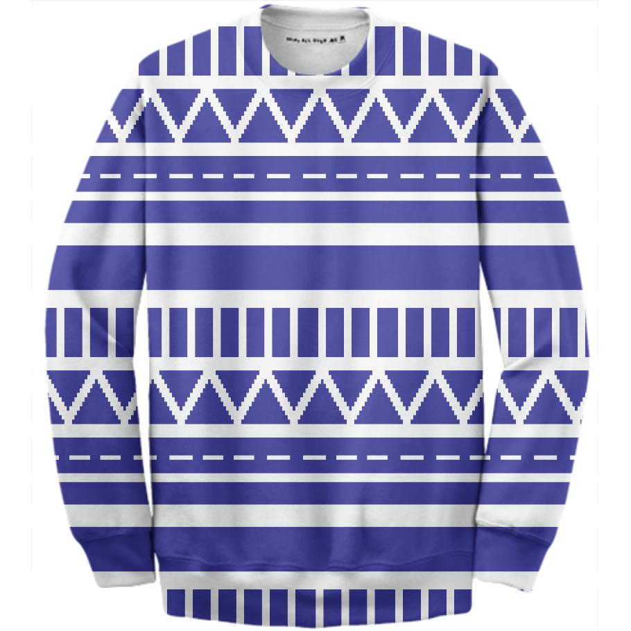 Seasonal Sweater in blue