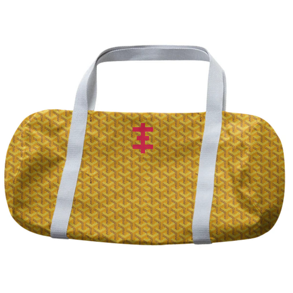 Yellow Goyard Psychic Cross Duffle