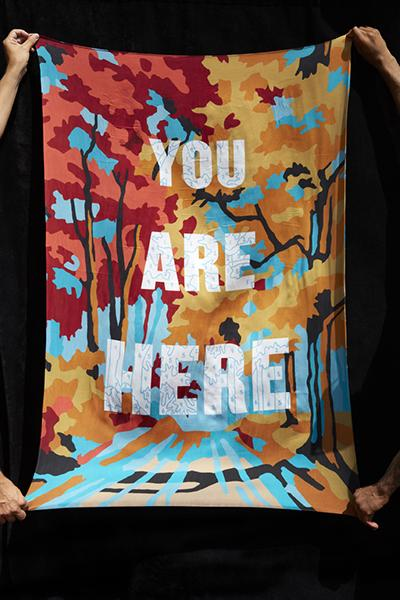 You Are Here Silk Scarf