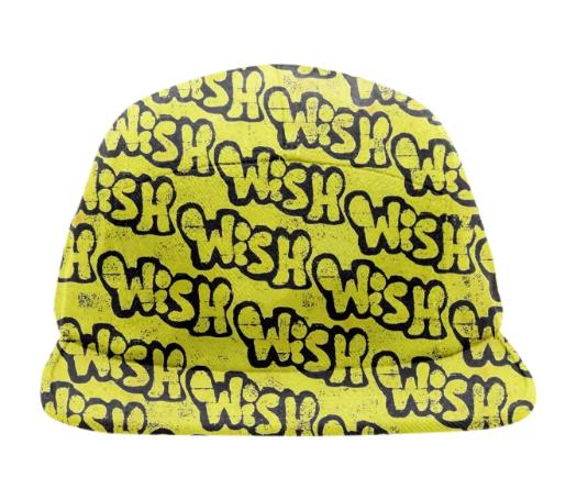 Black and Yellow Wish Graffiti 5 Panel Hat